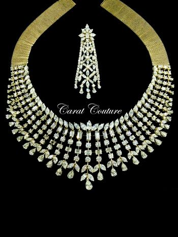 Photo of large diamond necklace for engagement