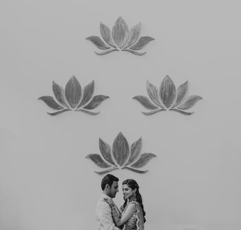 Photo of pretty black and white couple shot during mehendi