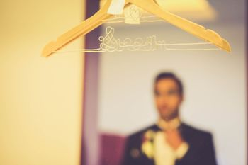 Photo of Hanger rewired to say groom