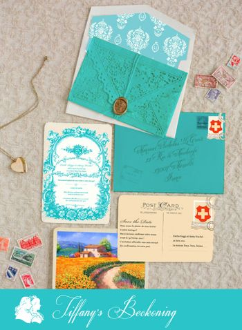 Light Blue Invitations & Favors Photo