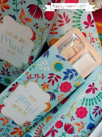 blue floral print invitation cards