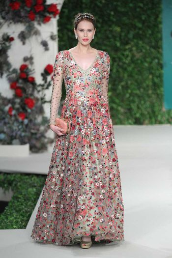 Photo of Floral embroidered gown by varun Bahl