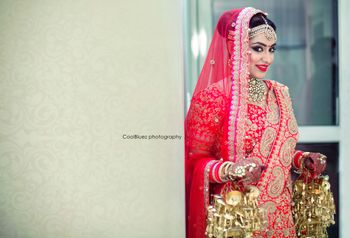 Red Bride with Gold Kaleere