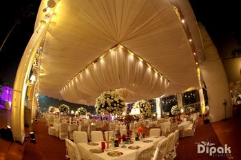 Elegant white and gold theme for engagement or reception