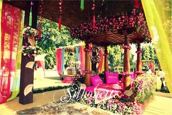 Photo of Bali themed mehendi Silhouette Events