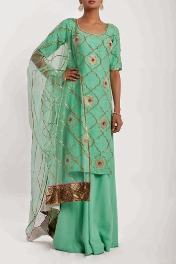 Photo of mint green sharara