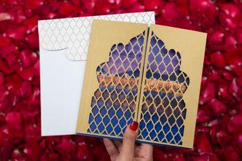 jaali cut invitation cards