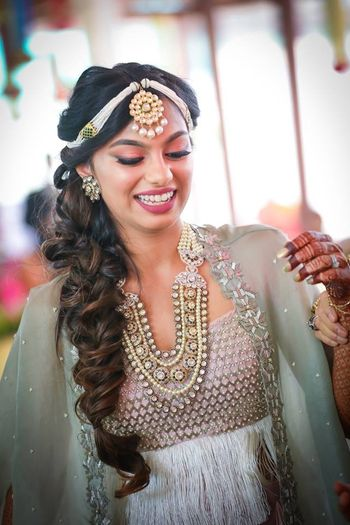 Bride-to-be in unique jewellery