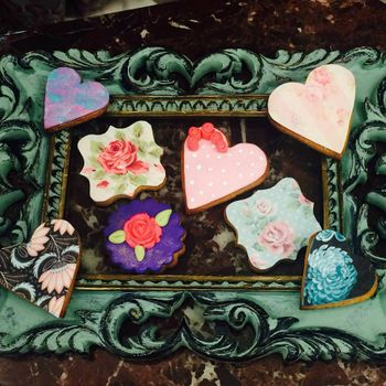 Photo of heart shapes cookies