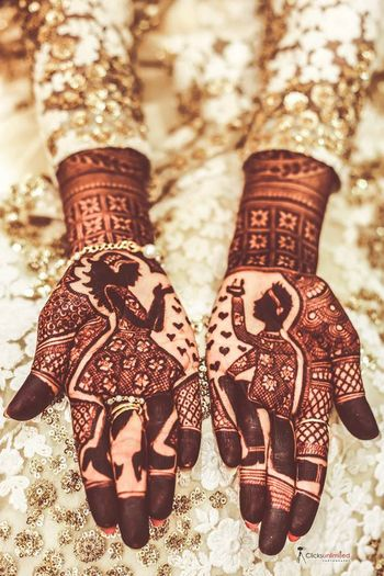 Cute proposal mehendi design