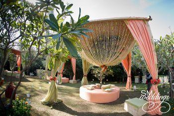 Photo of pastel mandap