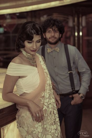 Photo of Vintage themed pre wedding shoot