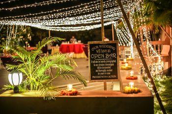 Cocktail / reception decor