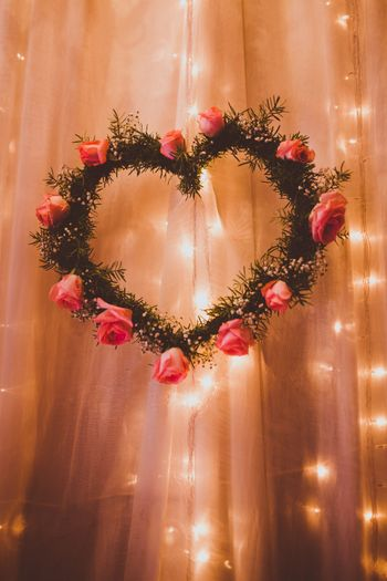 Photo of Heart shaped wreath with roses