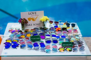 Photo of Sunglasses as favours for poolside mehendi