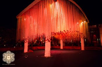 Photo of Night wedding mandap decor