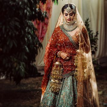 Photo of An offbeat heavy bridal lehenga
