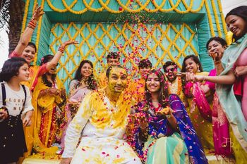 Photo of fun haldi shot