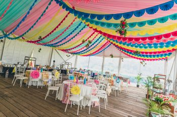 Multicolour tent for day wedding