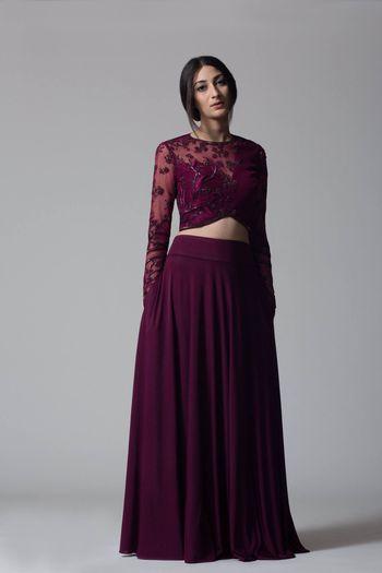 Purple color lehenga