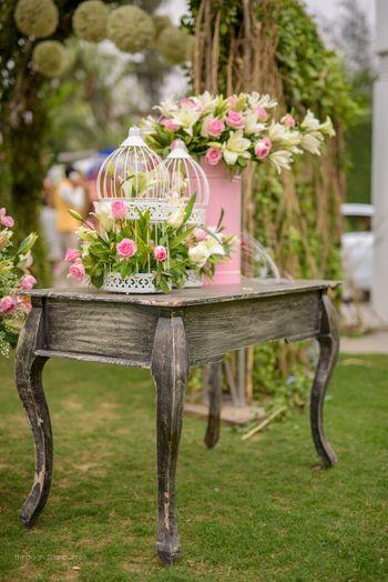 Bird cage table setting decor