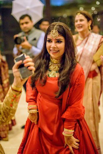 Photo of Crimson lehenga