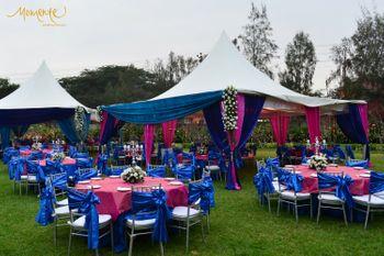 Photo of Blue and white theme decor