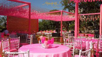 Photo of Pink theme wedding decor