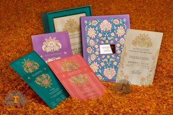 Photo of Colorful wedding card