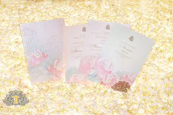 Photo of Pastel floral wedding card
