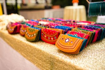 Traditional clutches as mehendi favours