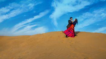 Pre wedding shoot in desert