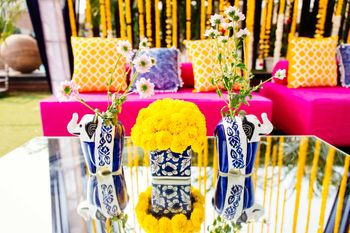 Photo of Funky table centerpieces