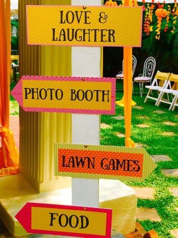 Photo of Signage at wedding