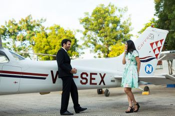 Photo of Pre wedding shoot on an airplane