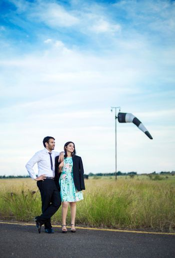 Photo of pre wedding shoot location on airport runway