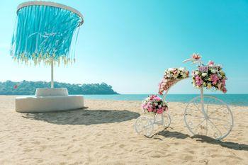 Photo of beach wedding