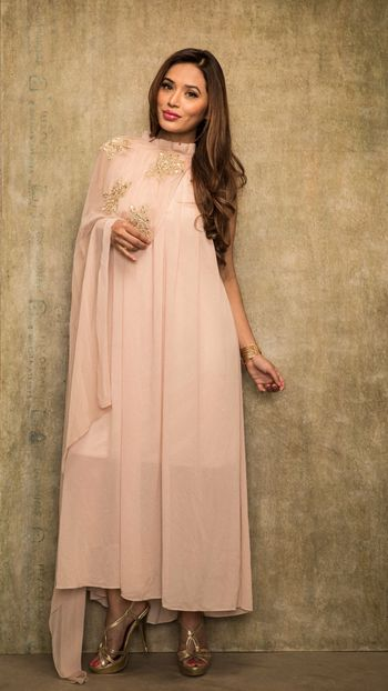Blush pink indo western outfit