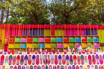 Quirky colourful mehendi bar