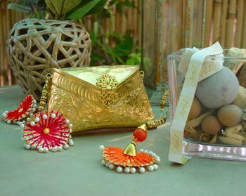 gold metallic engraved bag