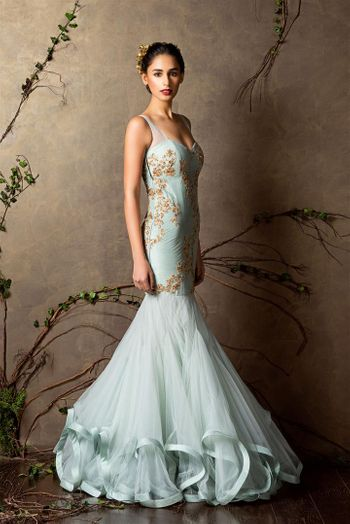 Photo of aqua gown