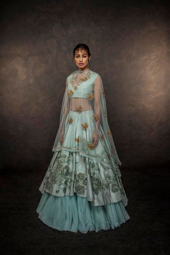Photo of layered lehenga