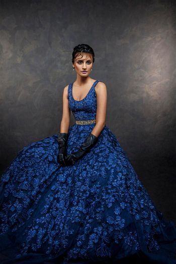Photo of royal blue gown