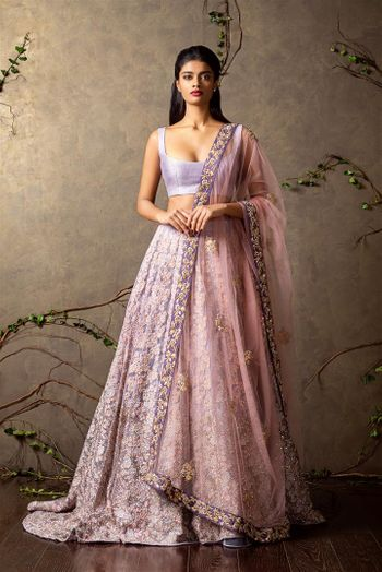 Photo of lavender bridal lehenga