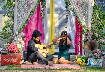 musical theme pre-wedding shoot