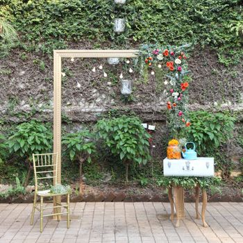 Photo of Rustic engagement brunch decor