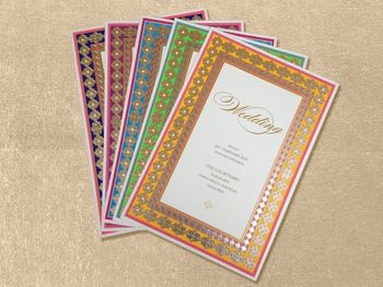 Photo of Sheesh mahal inspired invitation card