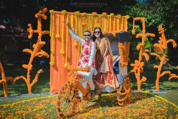 genda fool photobooth mehendi decor