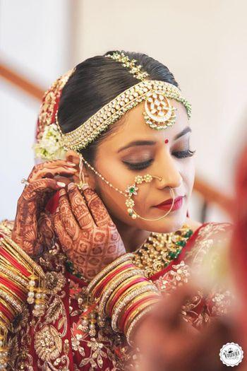 Wedding day bridal shot