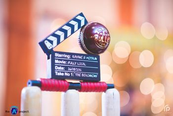 Photo of Cricket theme prop for sangeet